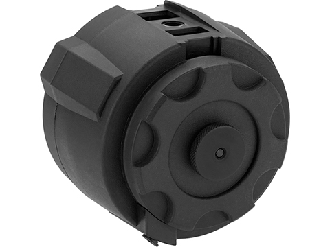 Angel Custom 1500 Round Firestorm Airsoft AEG Drum Flashmag (Color: Black / Body Only)