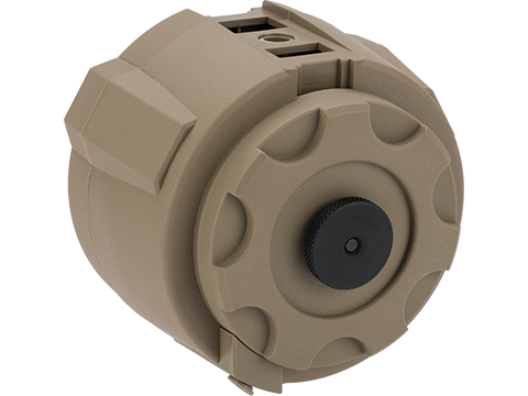 Angel Custom 1500 Round Firestorm Airsoft AEG Drum Flashmag (Color: Dark Earth / Body Only)