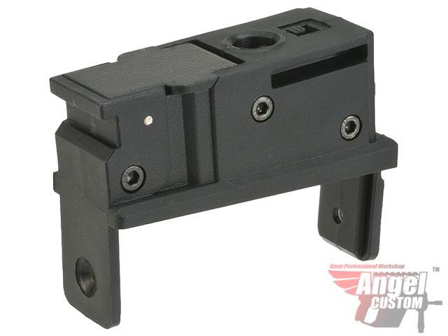 Angel Custom Magazine Adapter for Firestorm / Thunderstorm Airsoft AEG Drum Magazines (Version: AK / Black)