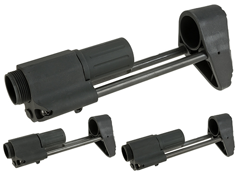 Angry Gun Retractable Compact Carbine Stock for M4 Gas Blowback GBB Rifles