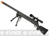 Bone Yard - A&K US Army SOCOM Type M24 Airsoft Bolt Action Scout Sniper Rifle w/ Fluted Barrel (Store Display, Non-Working Or Refurbished Models)