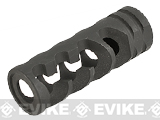 Avengers Airsoft DNTC 308 Style Flash Hider Compensator - 14mm Negative