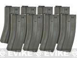 Evike.com Metal 300rd Parkerized Hi-Cap Magazine for M4/M16 Series AEG Rifles (Package: Set of 8)