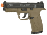Smith & Wesson Licensed M&P40 Full Size Airsoft Spring Pistol - Dark Earth