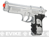 UKArms M757 Full Size M9 Airsoft Spring Pistol - Silver