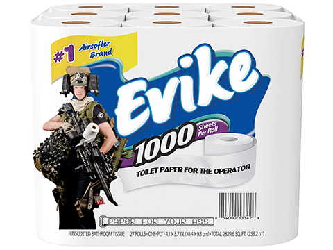 Evike.com Smooth Operator's 1-Ply Multi-Use Toilet Paper