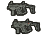Aprilla Design PVC IFF Hook and Loop Modern Warfare Series Patch (Gun: Kriss Vector Set of 2)