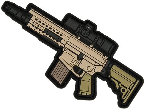 Aprilla Design PVC IFF Hook and Loop Modern Warfare Series Patch (Gun: SR25)