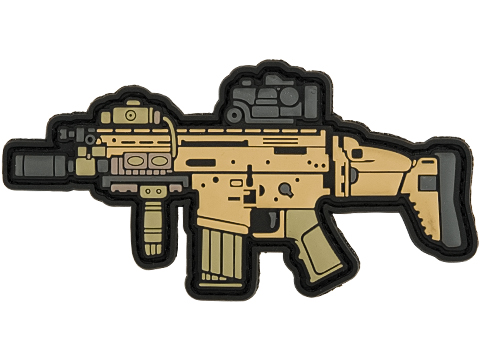 Aprilla Design PVC IFF Hook and Loop Modern Warfare Series Patch (Gun: SCAR-H)
