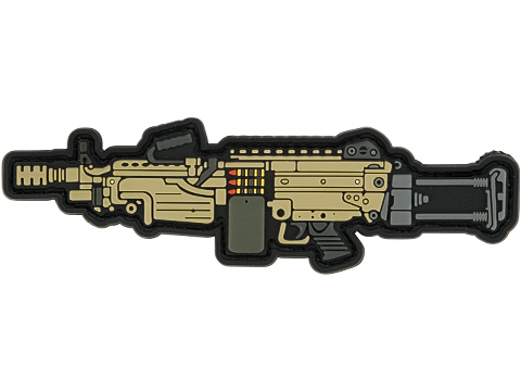 Aprilla Design PVC IFF Hook and Loop Modern Warfare Series Patch (Gun: M249)