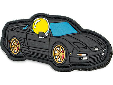 Aprilla Design PVC IFF Hook & Loop Automotive Series Patch (Model: NSX Black)