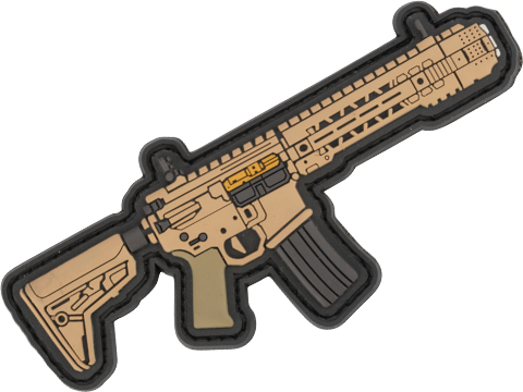Aprilla Design PVC IFF Hook and Loop Modern Warfare Series Patch (Gun: SAI GRY / Tan)