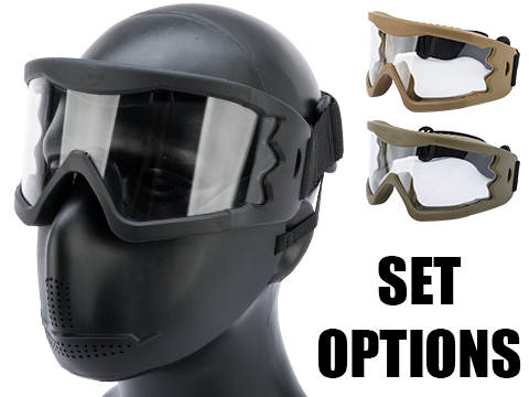 Hakkotsu High Peripheral X-Eye 260 Degree Wide Angle Goggle Set (Color: Dark Earth / Goggle Only)