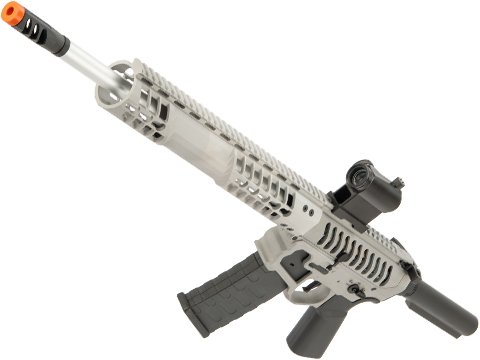 EMG F-1 Firearms BDR-15 3G AR15 2.0 eSilverEdge Full Metal Airsoft AEG Training Rifle (Model: Raw Aluminum / No Stock / 400 FPS)