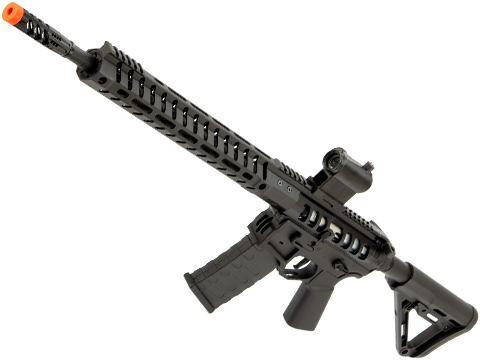 EMG F-1 Firearms UDR-15 AR15 2.0 eSilverEdge Full Metal Airsoft AEG Training Rifle (Model: Black / RS3 Stock)