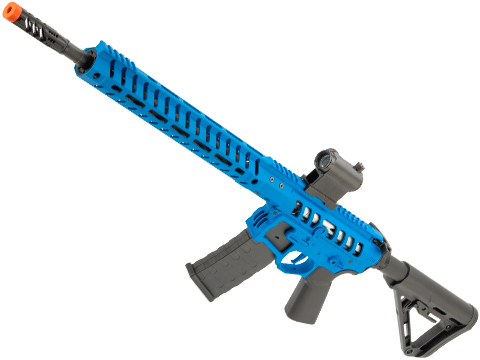 EMG F-1 Firearms UDR-15 AR15 2.0 eSilverEdge Full Metal Airsoft AEG Training Rifle (Model: EMG Blue / RS3 Stock / 400 FPS)