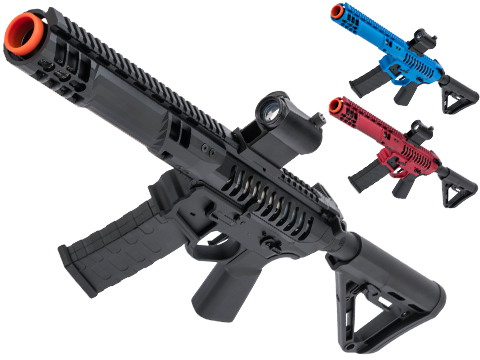 EMG F-1 Firearms PDW Airsoft AEG Training Rifle w/ eSE Electronic Trigger (Model: Black / RS-3 350 FPS)