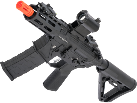 APS Phantom Extremis Mark X eSilverEdge PDW Style Airsoft AEG (Color: Black)