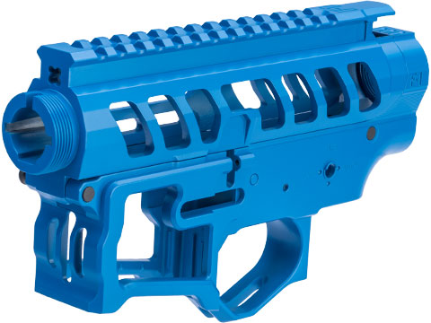 EMG F-1 Firearms Officially Licensed UDR-15-3G Full Metal M4 Receiver Set (Color: Blue)