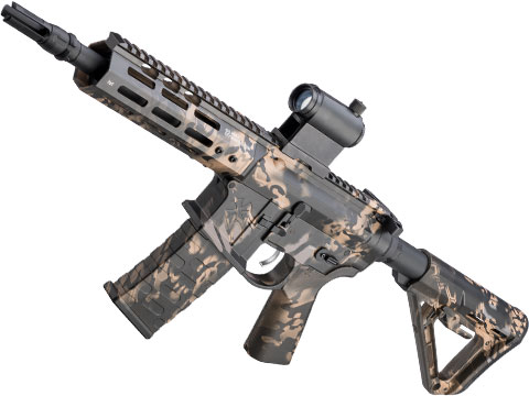 EMG NOVESKE Gen 4 w/ eSilverEdge SDU2.0 Gearbox Airsoft AEG Training Rifle (Model: Pistol / Kryptek Obskura Nox)