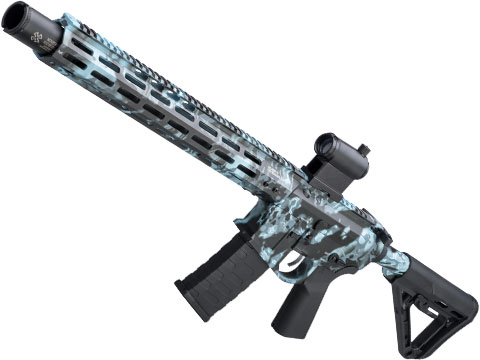 EMG NOVESKE Gen 4 w/ eSilverEdge SDU2.0 Gearbox Airsoft AEG Training Rifle (Model: Infidel / Kryptek Obskura Blue)