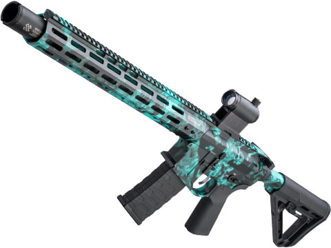 EMG NOVESKE Gen 4 w/ eSilverEdge SDU2.0 Gearbox Airsoft AEG Training Rifle (Model: Infidel / Kryptek Obskura Aqua)