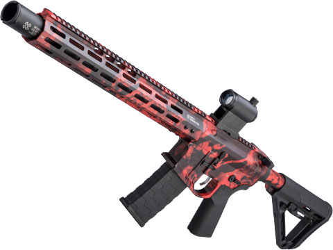 EMG NOVESKE Gen 4 w/ eSilverEdge SDU2.0 Gearbox Airsoft AEG Training Rifle (Model: Infidel / Kryptek Obskura Red)