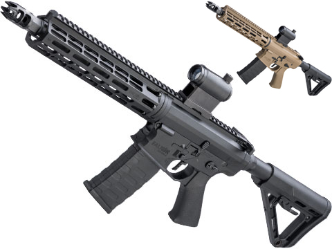EMG Falkor Phantom AR-15  w/ eSilverEdge Gearbox M4 Airsoft AEG (Color: Black / RS-3 Stock)