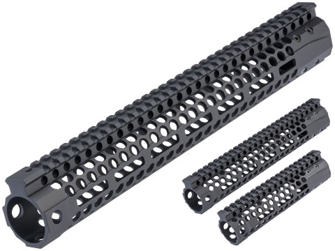 EMG F1 Firearms Officially Licensed S7M Super Lite M-LOK Handguard for M4/M16 Airsoft Rifles (Model: Black / 7.7)