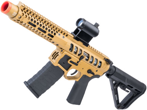 EMG F-1 Firearms PDW AR15 eSilverEdge Airsoft AEG Training Rifle (Model: 3G Style 2 / RS3 / Gold)