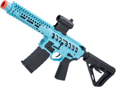 EMG F-1 Firearms PDW AR15 eSilverEdge Airsoft AEG Training Rifle (Model: 3G Style 2 / RS3 / Teal)
