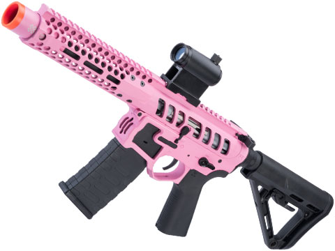 EMG F-1 Firearms PDW AR15 eSilverEdge Airsoft AEG Training Rifle (Model: 3G Style 2 / RS3 / Pink)