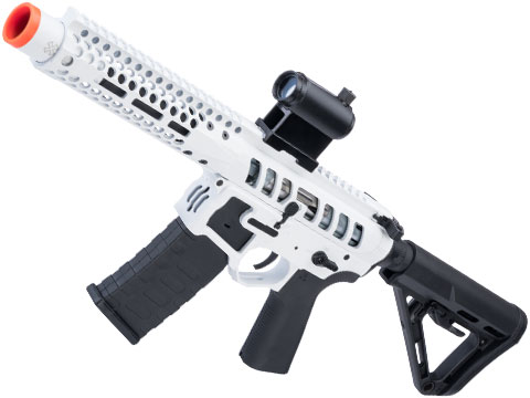 EMG F-1 Firearms PDW AR15 eSilverEdge Airsoft AEG Training Rifle (Model: 3G Style 2 / RS3 / White)