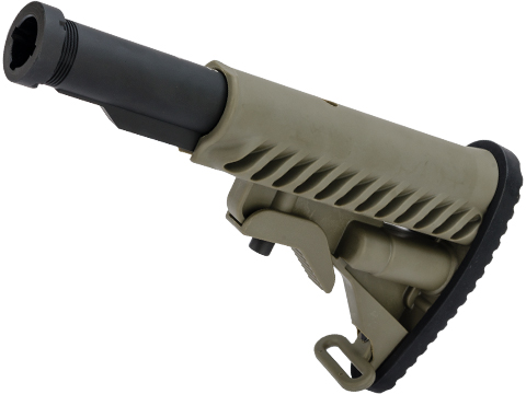 APS 556 Type Retractable Stock with 5 Position Metal Tube (Color: OD Green)