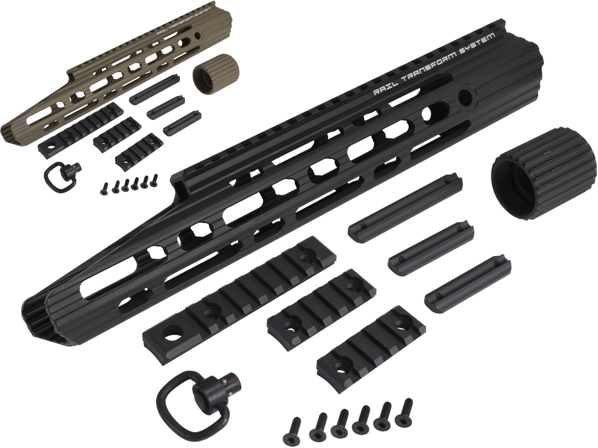 APS 13 Guardian RIS Handguard Set for M4 / M16 Series Airsoft AEG Rifles (Color: Black)