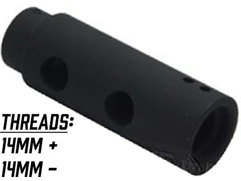 APS / Matrix Mini Y Comp Type Metal Flashhider for Airsoft AEG
