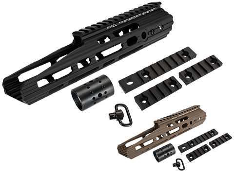 APS 10 Guardian RIS Handguard Set for M4 / M16 Series Airsoft AEG Rifles (Color: Black)