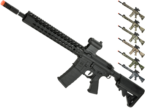 APS ASR115 Full Metal 12.5 M4 AR15 Airsoft AEG EBB Rifle w/ Silver Edge Gearbox (Color: Black)