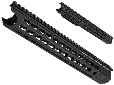 APS Keymod Low Profile Free Float Handguard for M4 / M16 Series Airsoft AEG Rifles