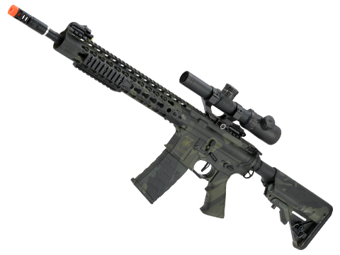 APS ASR115 Full Metal 12.5 M4 AR15 Airsoft AEG EBB Rifle w/ Silver Edge Gearbox (Color: Mulitcam Black)