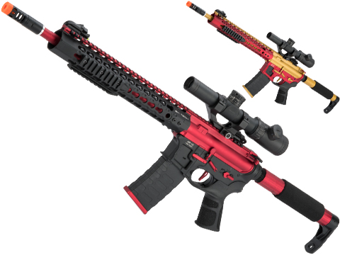APS Limited Edition CNC Machined Custom AEG Rifle w/ Silver Edge Gearbox (Color: Red Dragon)