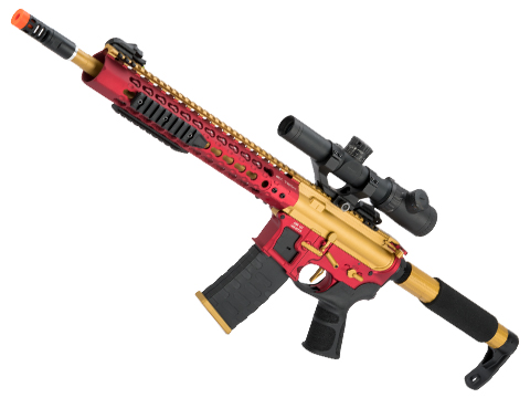 APS Limited Edition CNC Machined Custom AEG Rifle w/ Silver Edge Gearbox (Color: Gold Dragon)