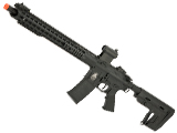 APS ASR-117 Boar Tactical Silver Edge 17 KeyMod Airsoft AEG with RS-1 Stock - Black