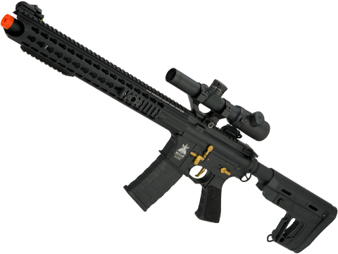 APS ASR-117 Boar Tactical Silver Edge 17 KeyMod Airsoft AEG (Color: Black / RS1 Stock)