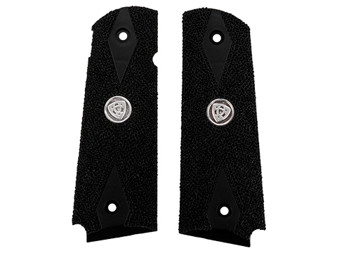 APS Grip Panel for TM 1911 Series GBB Pistols (Color: Black / Stippled)