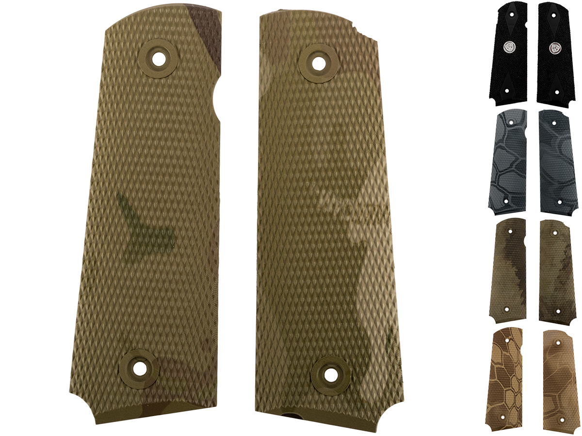 APS Grip Panel for TM 1911 Series GBB Pistols (Color: Multicam)