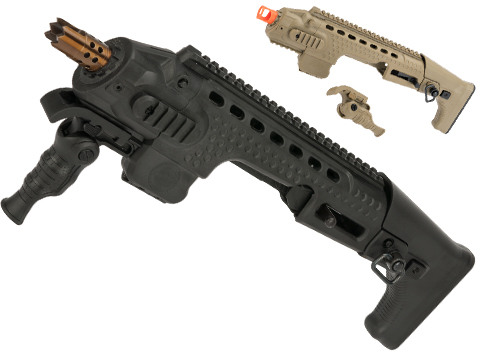 APS Action Combat Carbine Conversion Kit for APS  ACP Airsoft Pistols (Color: Black)