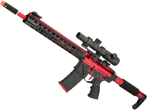 APS Phantom Extremis Mark IV 2.0 eSilverEdge M4 AEG with 15 MLOK Handguard (Color: Red / Black)