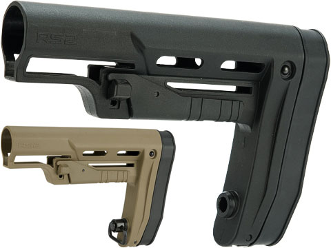 APS RS2 Low Profile Adjustable Stock for M4 Series Airsoft AEGs (Color: Black)