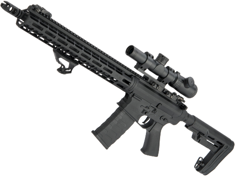 EMG Falkor AR-15 RECCE 2.0 eSilverEdge Training Weapon M4 Airsoft AEG Rifle (Color: Blackout / 350 FPS)